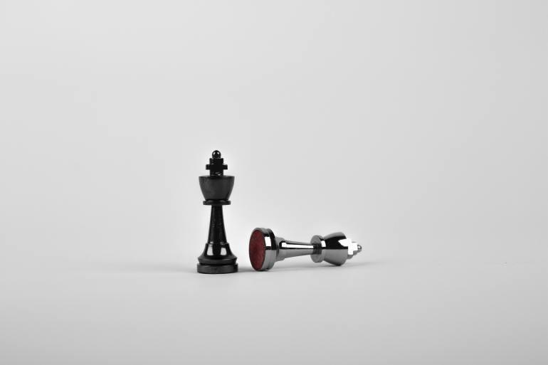 Pinos de xadrez representando estratégias