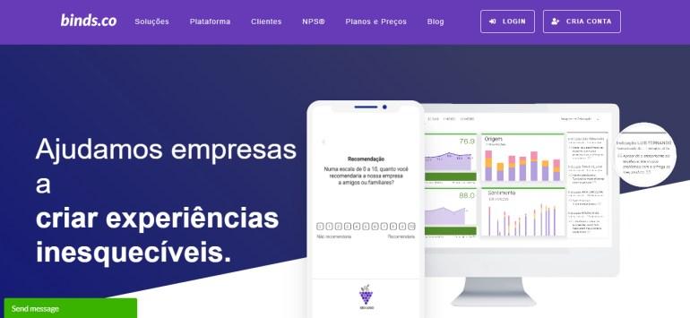 A binds.co oferece ferramenta especializada para aplicação de pesquisa de satisfação.