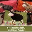 """Schafkuschelkissen, genäht von Renate nach dem binenstich-E-Book """"Schafkuschelkissen""""   binenstich.de"""