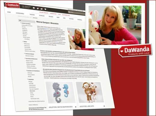 Binenstich-Shop und -Blog als Feature in der DaWanda DiY-Rubrik