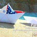 Papierboot-Kissen, genäht von Kristin   joeljoel.de