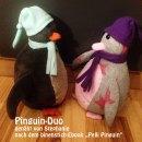 """Pinguin-Duo, genäht von Stephanie nach dem binenstich-Ebook """"Pelli Pinguin""""   binenstich.de"""