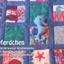 """Seepferdchen mit wunderschöner Unterwasser-Krabbeldecke. genäht von Angelika nach dem binenstich-E-Book """"Seetje Seepferdchen""""   binenstich.de"""