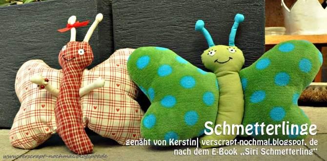 """Schmetterlinge, genäht von Kerstin  verscrapt-nochmal.blogspot.de   nach dem binenstich-Ebook """"Siri Schmetterling""""   binenstich.de"""