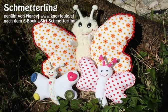 """Schmetterling, genäht von Nancy  knopfeule.at   nach dem binenstich-Ebook """"Siri Schmetterling""""   binenstich.de"""
