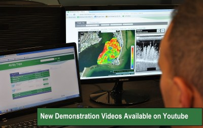 Biobase demo videos.  Lowrance waypoints