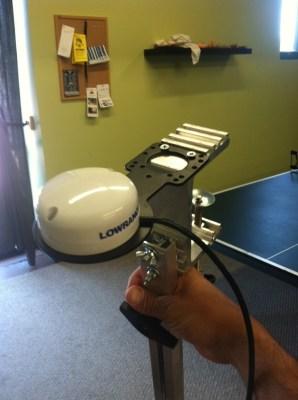Lowrance HDS, portable, bracket, GPS, external, mount