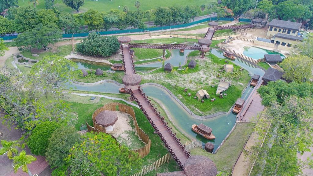 Aventura Selvagem, novo recinto do BioParque do Rio, visto de cima