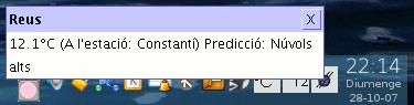 pantallada del TempsEscriptori configurat amb Reus