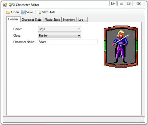 QFG Character Editor - Screenshot