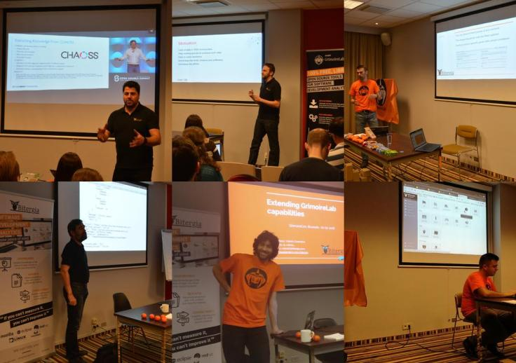 Bitergians giving their talks at CHAOSS Con