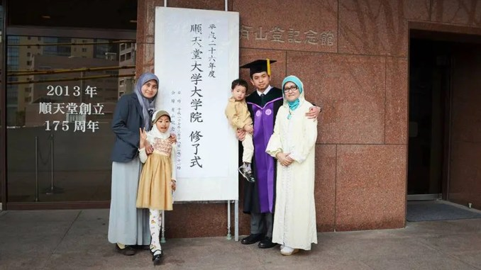 CD44 and cancer stem cells study lead author Dr. Fariz Nurwidya with his family