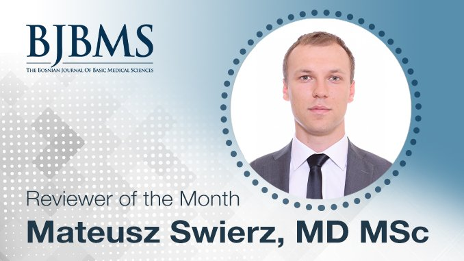 The Reviewer of the Month for September 2020: Dr. Mateusz Swierz