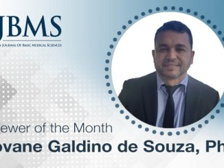 The Reviewer of the Month for October 2020: Dr. Giovane Galdino de Souza