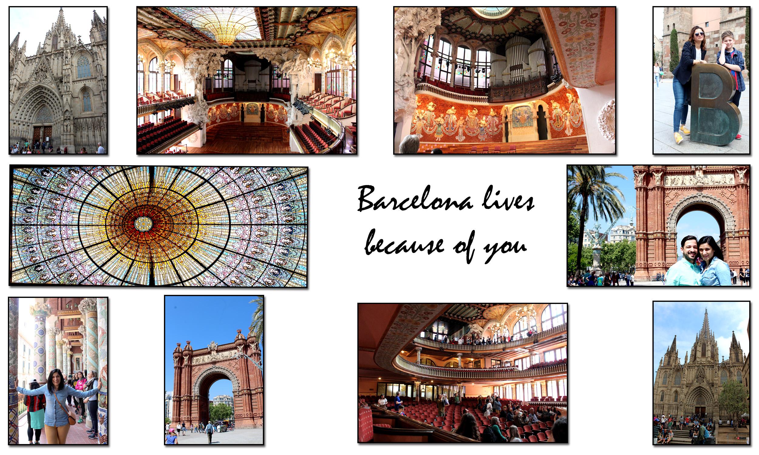 Palau de musica catalana, arc, catedrala BCN