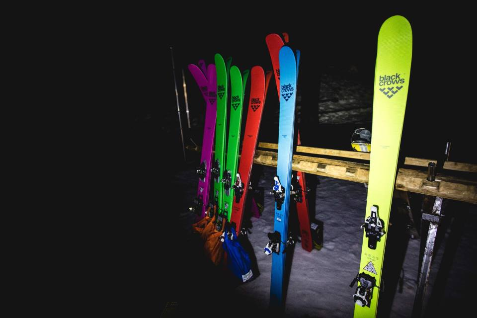 skis : corvus freebird, navis freebird, camox freebird, ova freebird, orb freebird Photo : Mark Von Roy /  Downdays