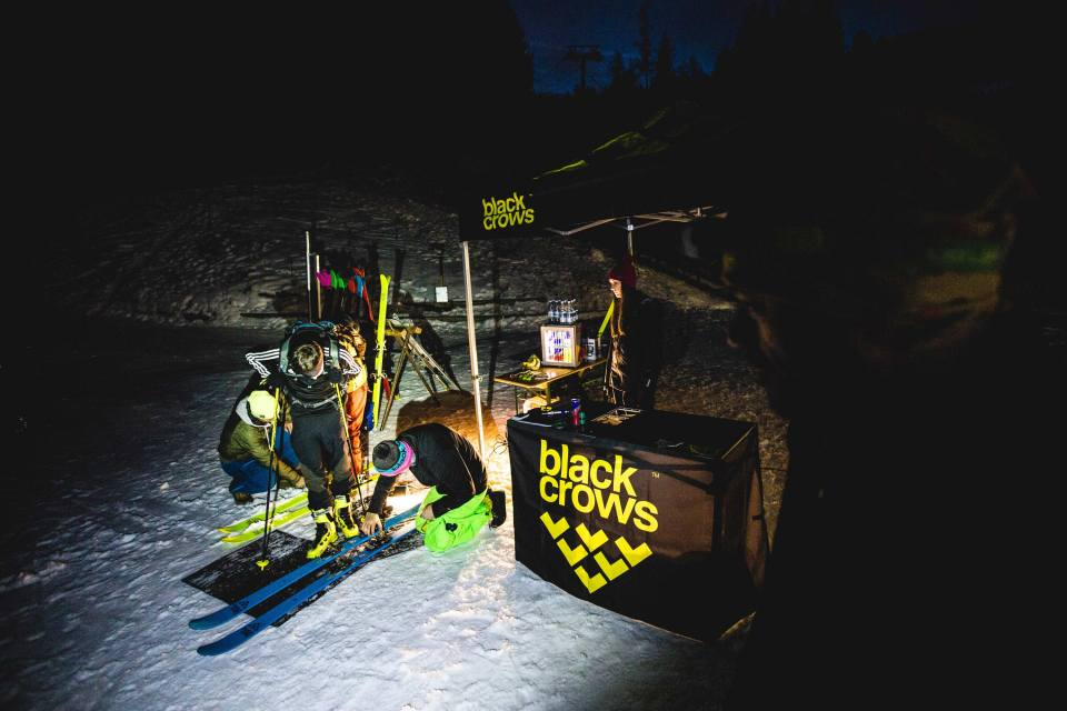 the noctouring society skis : Orb freebird, ova freebird Photo : Mark Von Roy /  Downdays