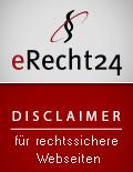"""eRecht24-Siegel """"Disclaimer"""""""