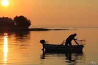 Ribar u zoru, Poljana, Otok Ugljan, Hrvatska