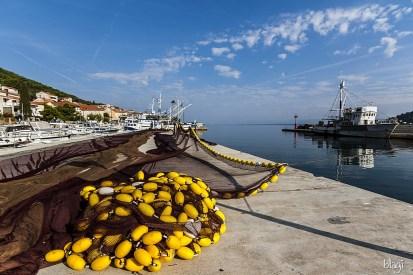 Ribarske mreže, Kali, otok Ugljan, Hrvatska