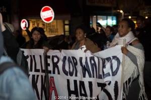 Protesters in NYC, expressing their disagreement with the Ferguson Grand Jury Verdict.