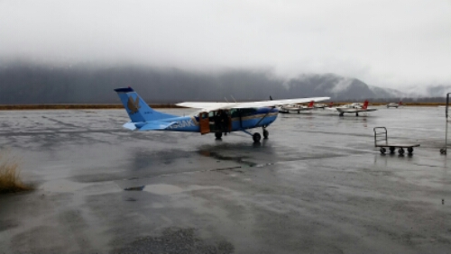 Small plane ready to transport me back to civilization - if and when the weather will permit :-)