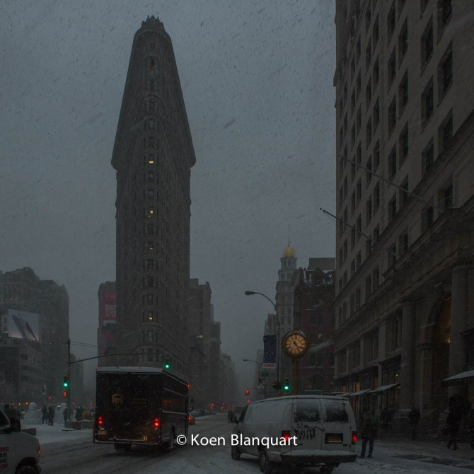 Flatiron in the snow.