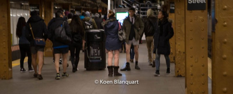 No Pants Subway Ride 2015 - Union Square