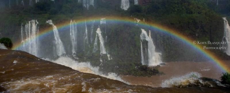 Iguazu Falls and a rainbow , Brazil, by Koen Blanquart