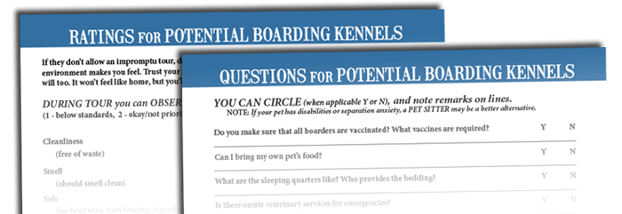 Boarding Kennel Checklist