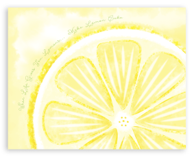 Lemon Art Print for the Kitchen