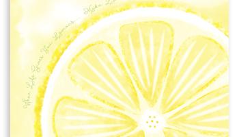 Lemon Art Print for the Kitchen