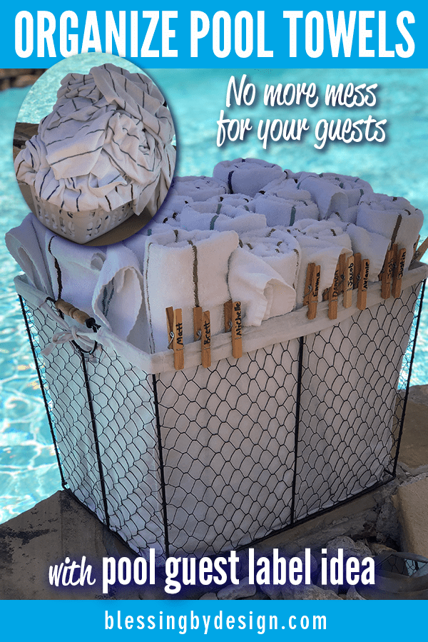 Organize Pool Party Towels