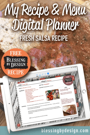 Digital Planner Recipe Sticker Fresh Salsa