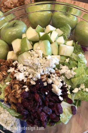 Apple Walnut Cranberry Gorgonzola Salad Recipe