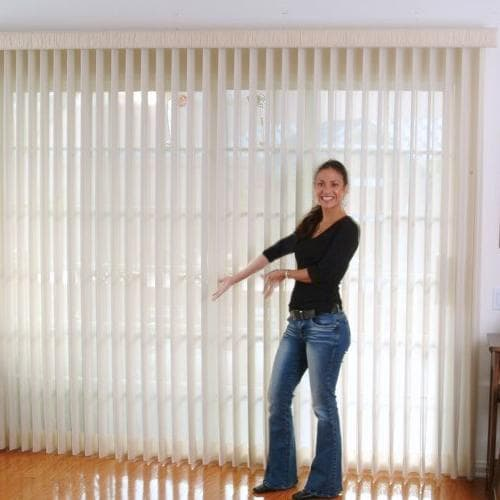 Vertical window sheer shading