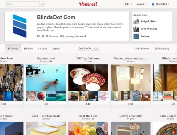 blinds.com pinterest