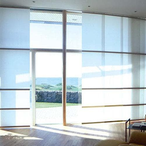 Cordless sheer weave sliding panels