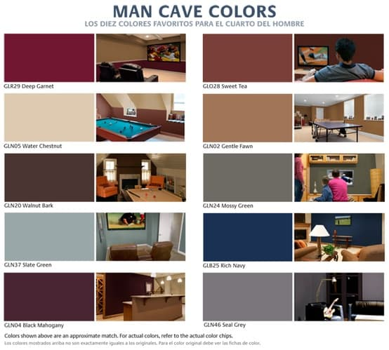 Man Cave Colors