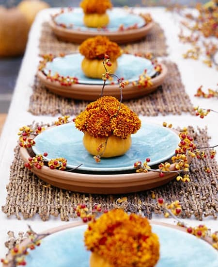 personal pumpkin flower arrangements