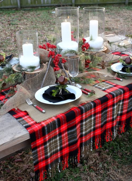 Christmas Tablescape via Houzz user Michelle Edwards