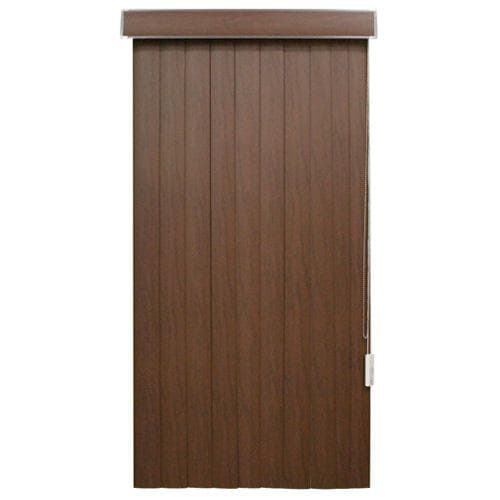 Faux Wood Vertical Blinds- Chestnut