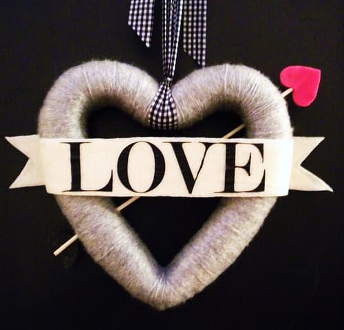 Bow and Arrow Heart Wreath