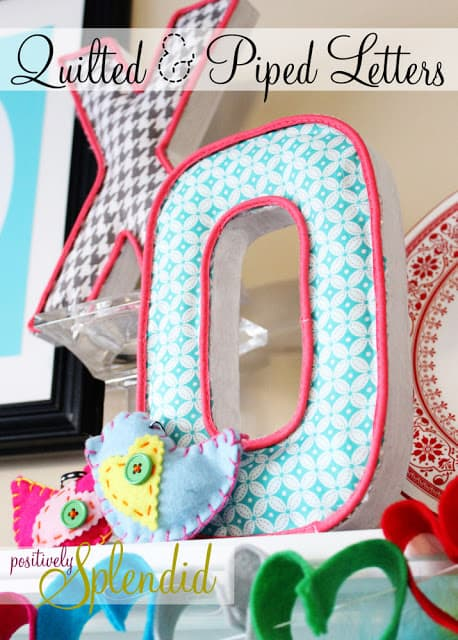 piped quilted letters