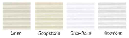 Top Sampled Colors Blinds.com Brand Double Cell Shades