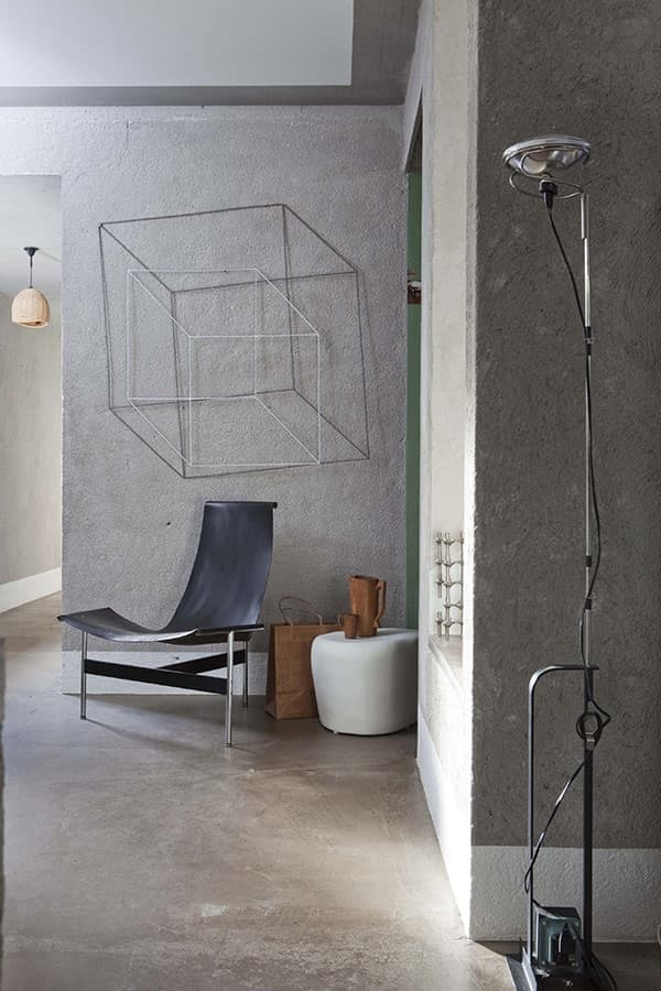 Geometric cube wall art