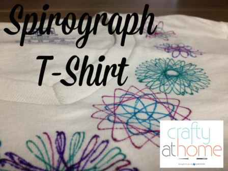 Spirograph upcycling T-shirt
