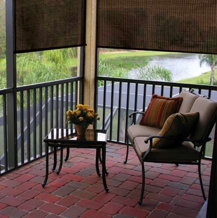 Coolaroo Exterior Porch Shade - A Great Summer Porch