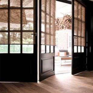 Grasscloth Roller Shades
