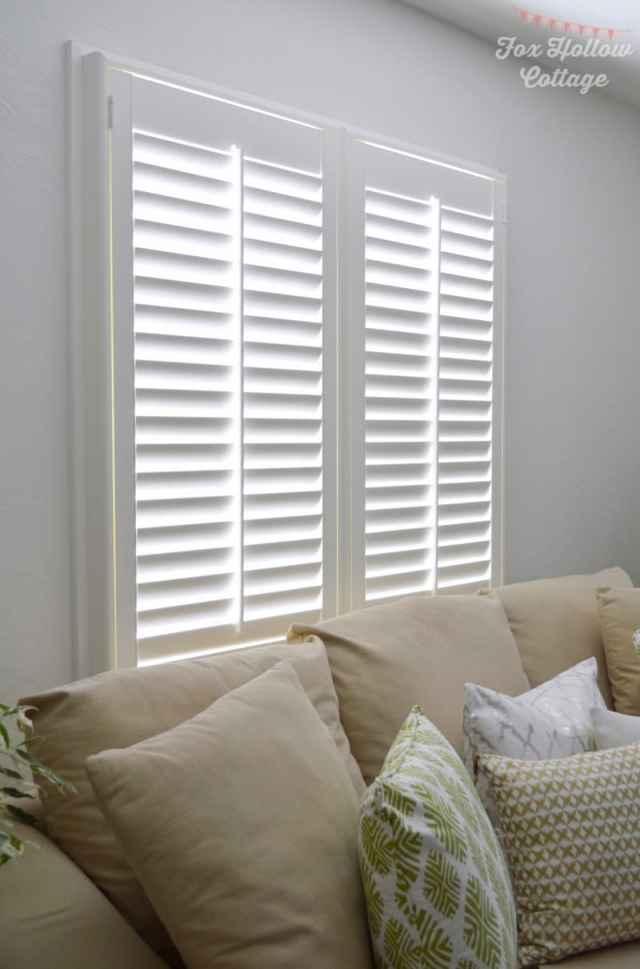 Norman-Woodlore-Plantation-Shutter-@blinds.com-Cottage-Living-Room-foxhollowcottage